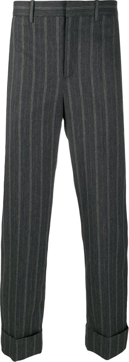 Neil Barrett Striped turn-up trousers