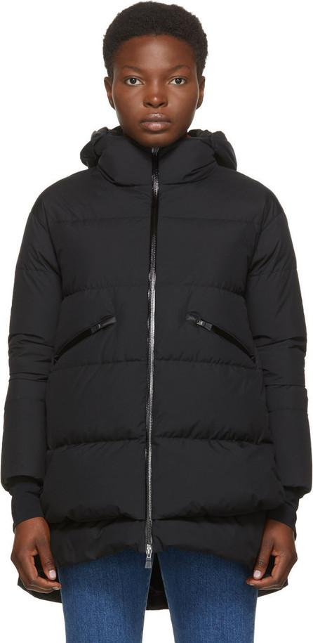 Herno Black Down Goretex Hooded Windstopper Coat
