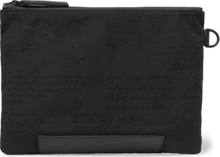 Berluti Scritto Leather-Trimmed Nylon Zip-Around Pouch