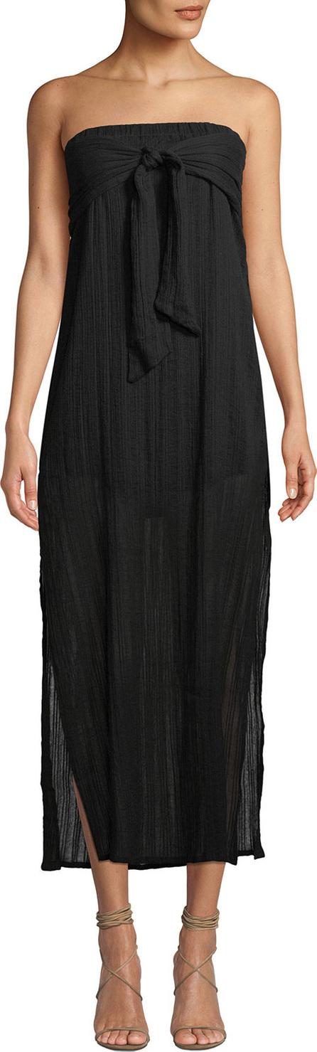 ViX Swimwear Tess Strapless Tie-Front Coverup Dress