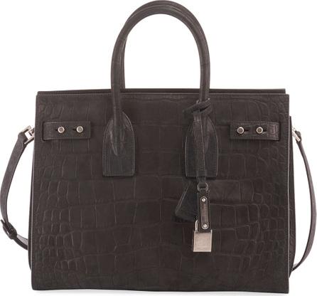 Saint Laurent Sac de Jour Small Croco Carryall Bag
