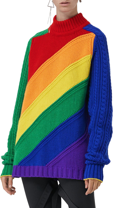 Burberry London England Rainbow Knit Wool & Cashmere Sweater