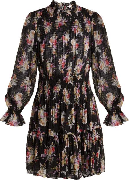 Rebecca Taylor Bouquet floral-print silk-blend mini dress