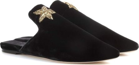 Sanayi 313 Exclusive to mytheresa.com – Stella embroidered velvet slippers