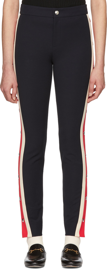 Gucci Navy Snap Buttons Leggings