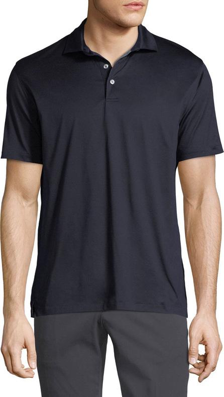 Ermenegildo Zegna Men's Mercerized Cotton Jersey Polo Shirt