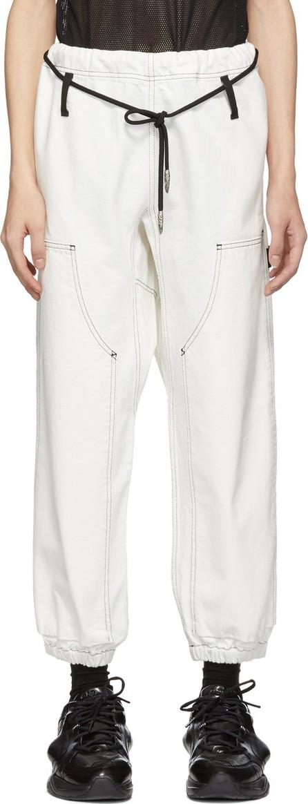 Alexander Wang White Denim Paper Bag Trousers