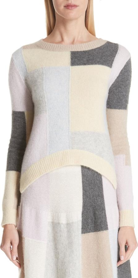 Adam Lippes Patchwork Cashmere & Silk Sweater