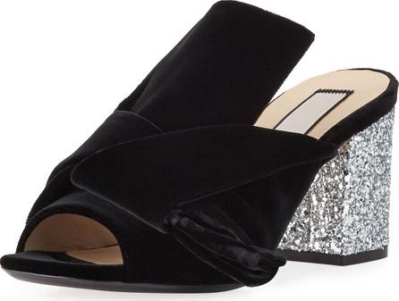 Nº21 Velvet Block-Heel Sandals