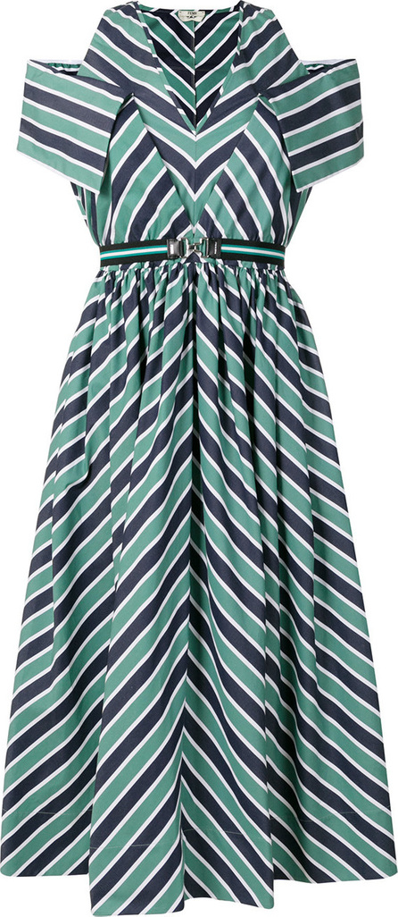 Fendi Striped midi dress