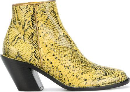 A.F.Vandevorst snake print ankle boots