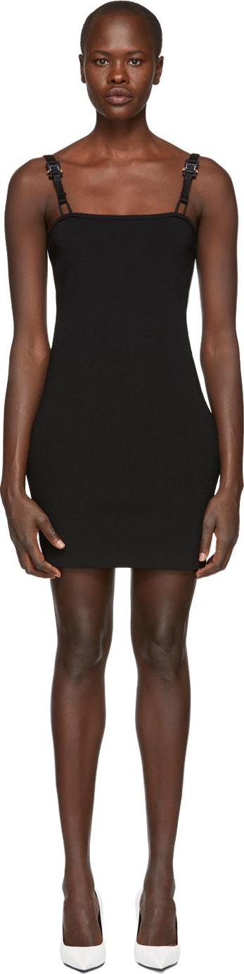 Alyx Black Short Rollercoaster Buckles Dress