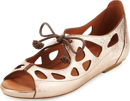 Gentle Souls Brynn Leather Lace-Up Sandal, Pink