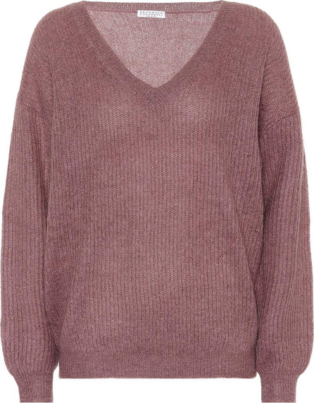 Brunello Cucinelli Metallic mohair-blend sweater