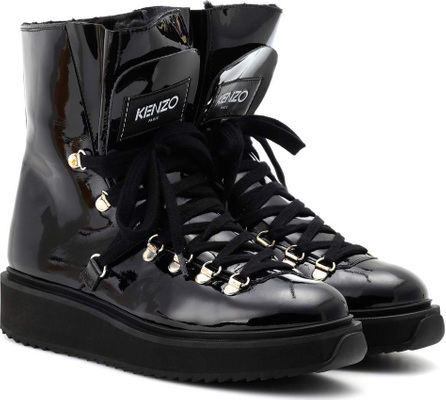 KENZO Alaska patent leather ankle boots