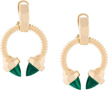 Eshvi faux malachite earrings