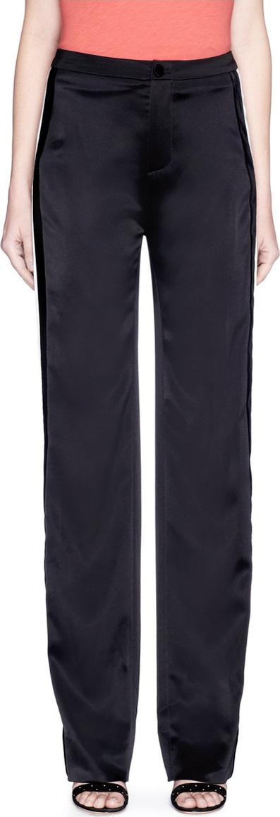 Lanvin Contrast outseam satin pants