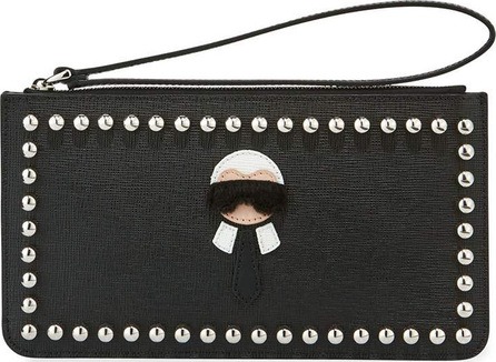 Fendi Karlito Flat Pouch Bag, Black