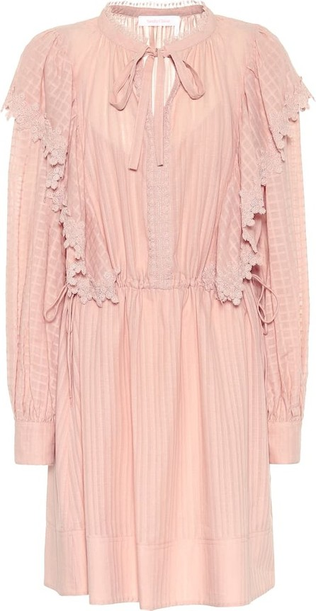 See By Chloé Cotton-voile minidress