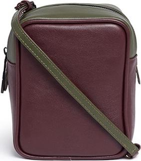 A-Esque 'Micro Container 02' colourblocked leather crossbody box bag
