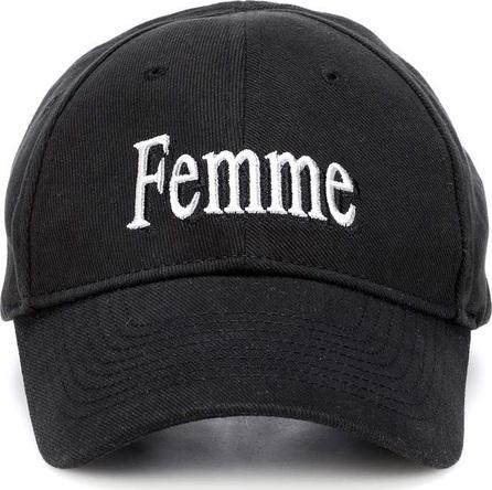Balenciaga Femme embroidered cotton baseball cap