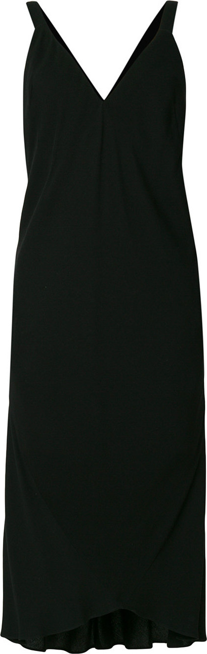 Haider Ackermann Deep v-neck dress