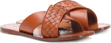 Bottega Veneta Intrecciato leather slides
