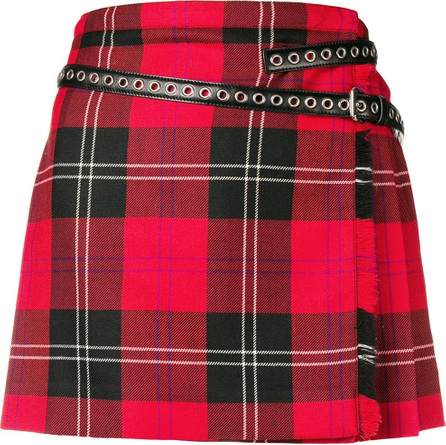 Miu Miu Pleated plaid skirt