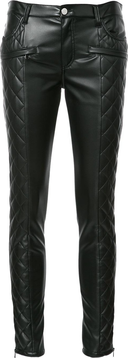 GIAMBA quilted skinny trousers