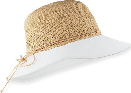 Helen Kaminski Kamali Cotton-Brim Raffia Sun Hat