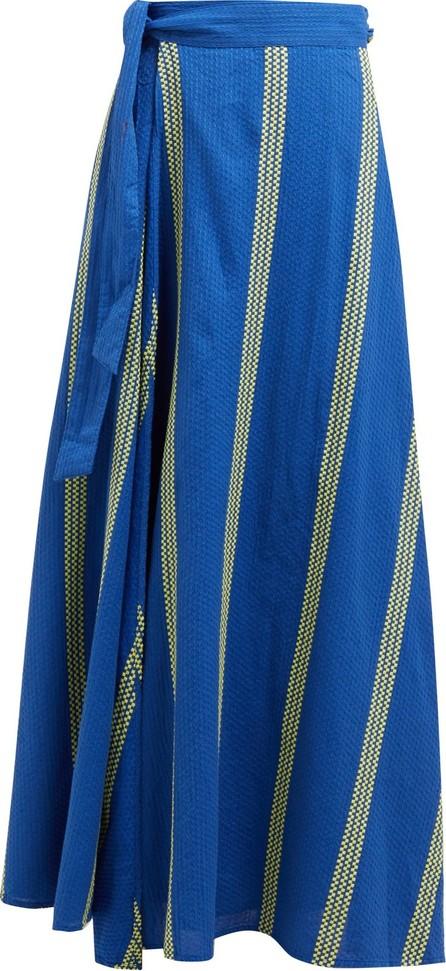 ace&jig Sangria striped cotton maxi wrap skirt