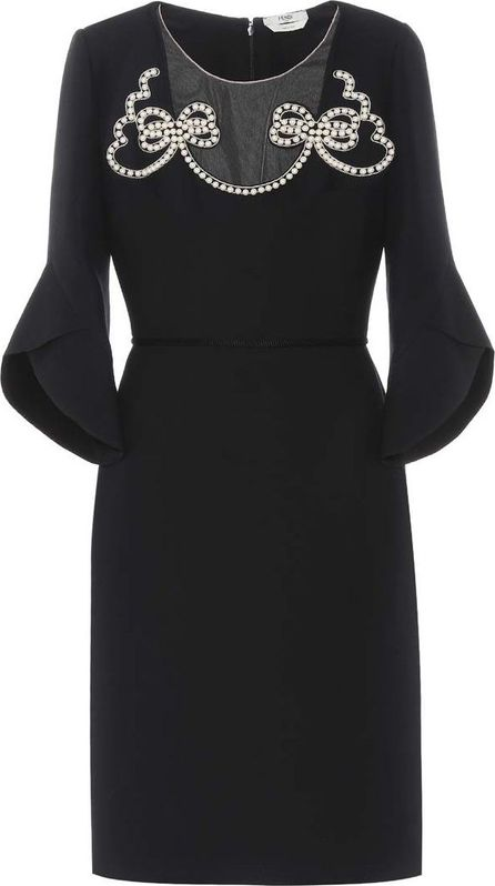 Fendi Wool and silk crêpe dress
