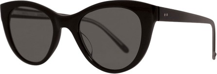 GARRETT LEIGHT x Claire Vivier Cat-Eye Transparent Acetate Sunglasses