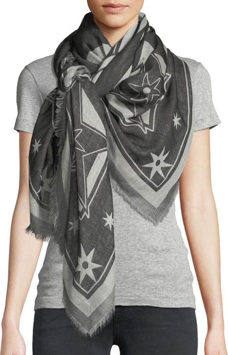 Givenchy Iconic Flash Wool-Silk Scarf