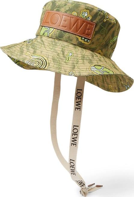 LOEWE + Paula's Ibiza Leather-Appliquéd Printed Cotton-Canvas Bucket Hat