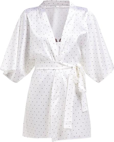Fleur of England Polka dot-print silk robe