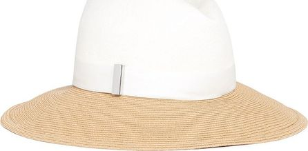 Gigi Burris 'Requiem' colourblock straw brim felt fedora hat