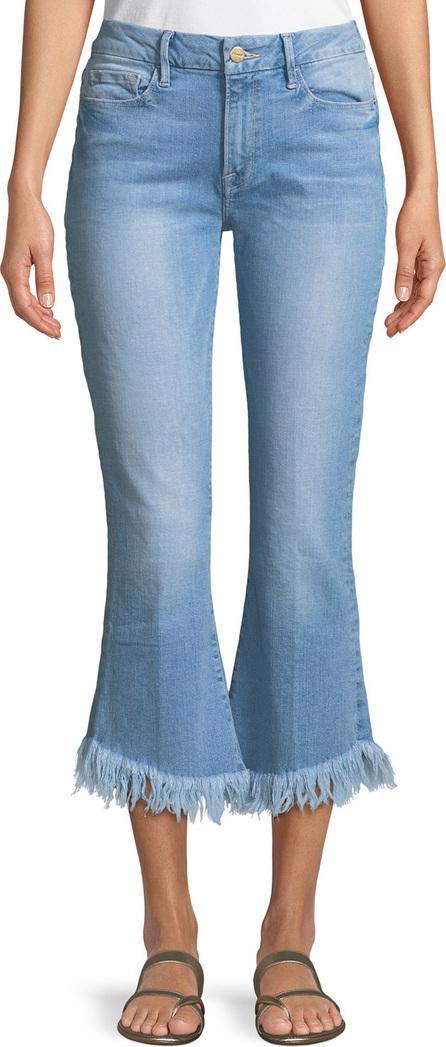 FRAME DENIM Le Crop Mini Boot Shredded Raw Jeans