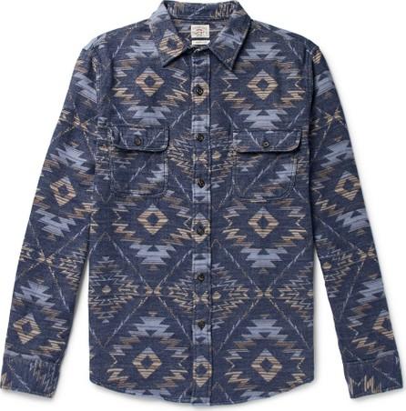 Faherty Cotton-Flannel Jacquard Shirt