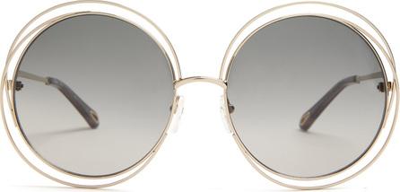 Chloe Carlina round-frame sunglasses