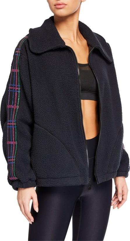Terez American Dream Fleece Jacket w/ Plaid Elastic Trim