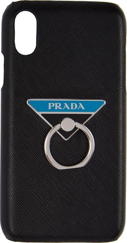 Prada Black Saffiano Ring iPhone XR Case