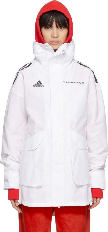 Gosha Rubchinskiy White adidas Originals Edition Hardshell Coat