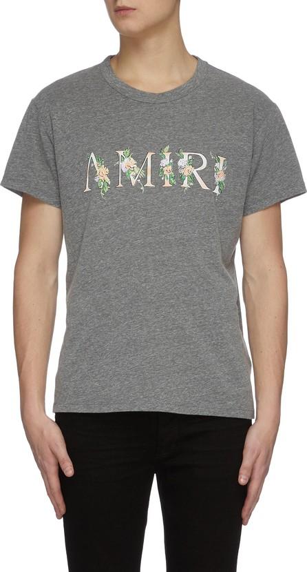 Amiri Floral logo print crewneck T-shirt