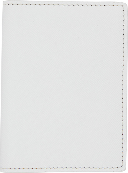 Woman by Common Projects White Saffiano Card Holder Wallet