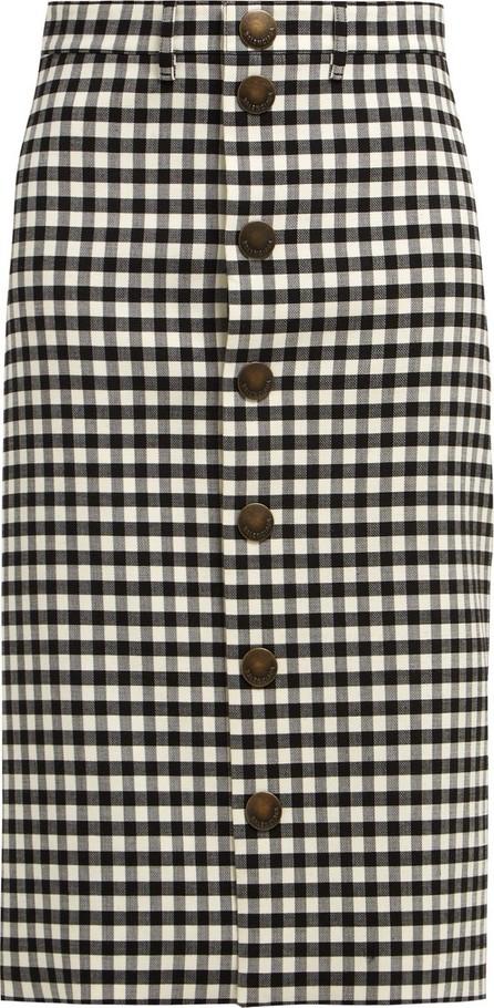 Balenciaga Vichy gingham pencil skirt
