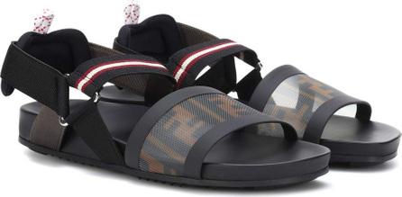 Fendi Logo mesh sandals