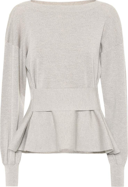 Agnona Peplum cashmere sweater