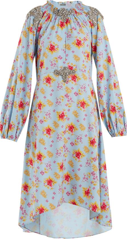 DODO BAR OR Marisa floral-print crystal-embellished dress