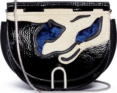 3.1 Phillip Lim 'Hana' mixed leather flap chain saddle bag